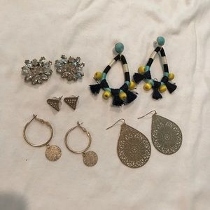 Lot of 5 pairs of earrings - BaubleBar, J Crew
